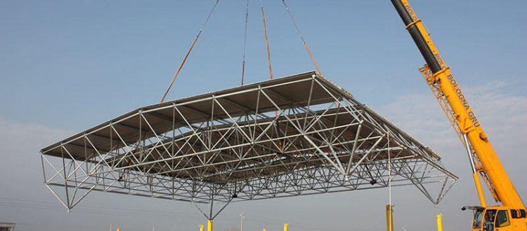سوله های صنعتی , سازه های صنعتینصب سازه